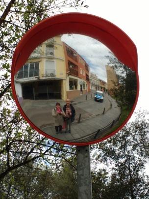 Mérida: Straßenspiegel ;-)