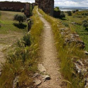 Mourão, auf der Burgmauer