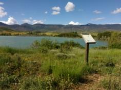Der kleine Stausee, nicht für Strom, nur Wasser für die Felder