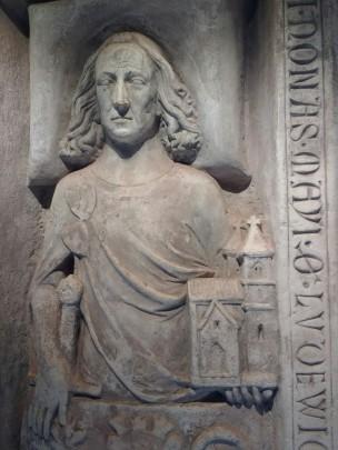 Ludwig der Springer, Grabplatte