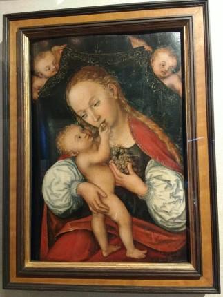 """""""Madonna mit der Weintraube"""" von Lucas Cranach d.Ä., 1537, Öl auf Holz"""