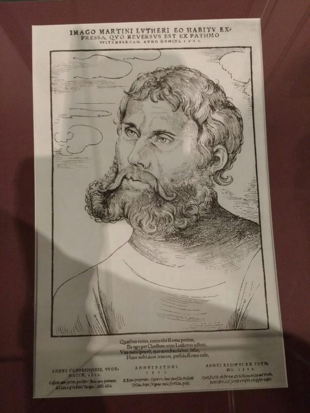 Junker Jörg; Holzschnitt von Lucas Cranach d.Ä.