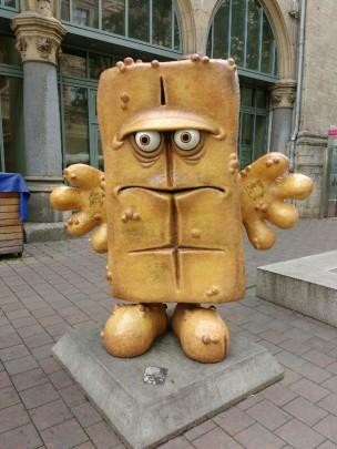 Bernd, das Brot in der Fußgängerzone