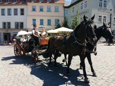 Kutsche vor dem Goethehaus