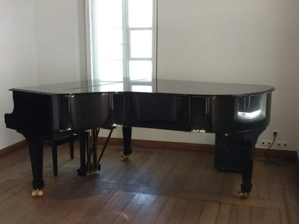 An diesem Flügel spielen die Pianisten uns vor... Das geöffnete Fenster!
