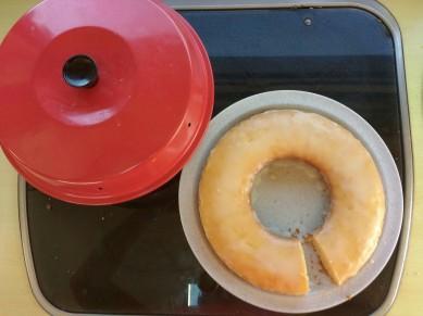 Zitronenkuchen aus dem Omnia-Backofen