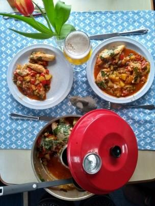 Abendessen aus dem Omnia-Backofen