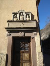 Eingang zu einer Mühle in Fischingen