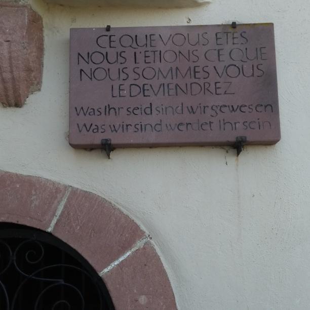 Inschrift am Beinhaus