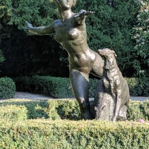 Im Rosengarten auf der Humboldthöhe