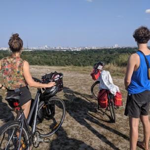 Auf dem Drachenberg mit den Rädern