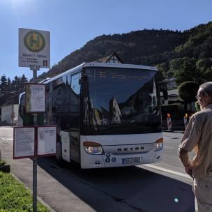 Rückweg mit dem Bus