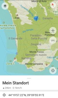 Standplatz San Rocco/Ligurien