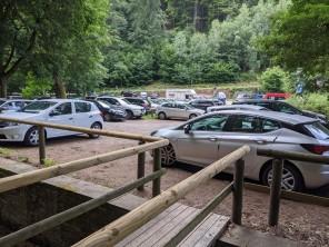 Parkplatz bei der Ankunft